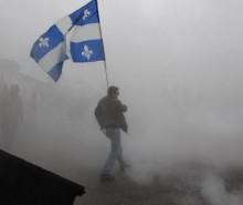 Congrès du PLQ, manifestations, émeutes: ça sent la révolution à Victoriaville