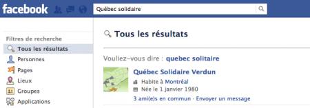 Québec solidaire sur Facebook