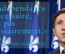 Amir Khadir:  c'est l'indépendance si nécessaire, mais pas nécessairement