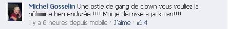 Michel Gosselin aime pas Poline