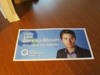 Insolite: une pancarte de Léo Bureau-Blouin en vente sur Kijiji pour 25$