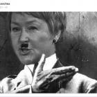 Caricature de Pauline Marois en Adolf Hitler