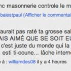 """""""Les Francs Maçons eux, ils n'auraient pas raté la grosse salope de PM du P. Cul"""""""