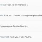 """Fuck, ils ont manqué Pauline Marois."""