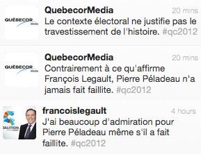 Faillite de Pierre Péladeau: bourde de François Legault