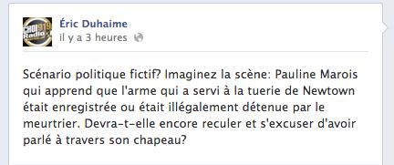 Éric Duhaime croit que Pauline Marois devrait s'excuser, au cas où