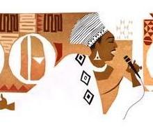 Miriam Makeba à l'honneur sur Google avec un doodle
