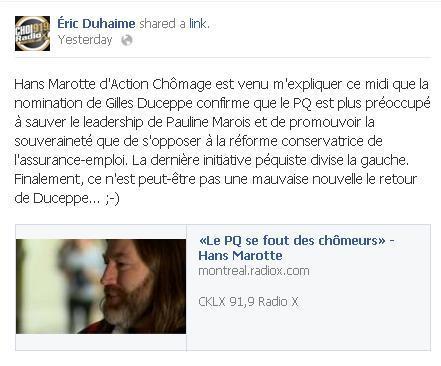 Eric Duhaime - Gouvernance souverainiste