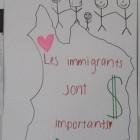 Les immigrants, l'argent et les paniers de fruits, un thème récurrent