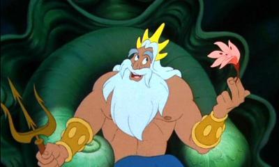 Le père d'Ariel, la petite sirène